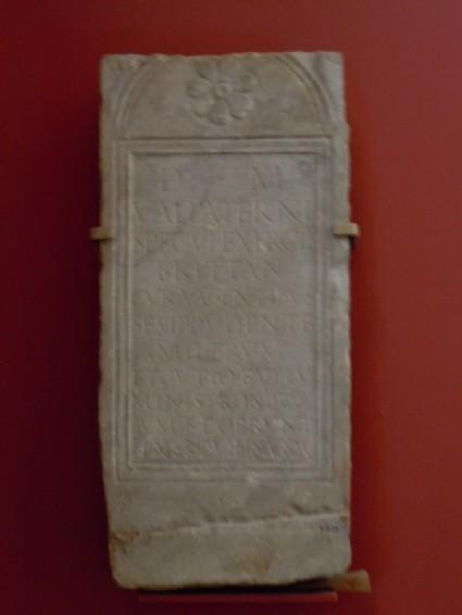 Tombstone of Valerius Paturnus