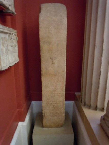 Terminal figure or herm with inscription to Polydeukion
