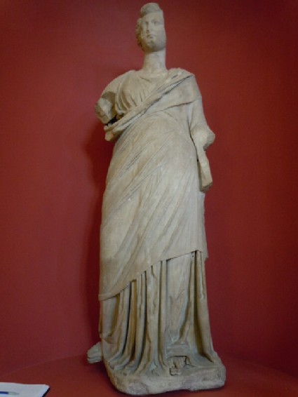 Hellenistic statue of female, with Roman head