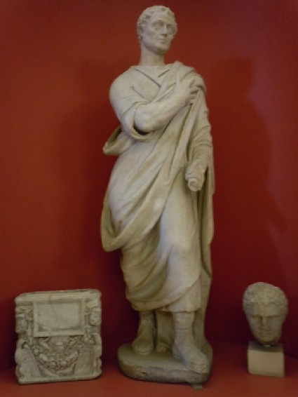Statue of a Roman senator by Egidio Moretti