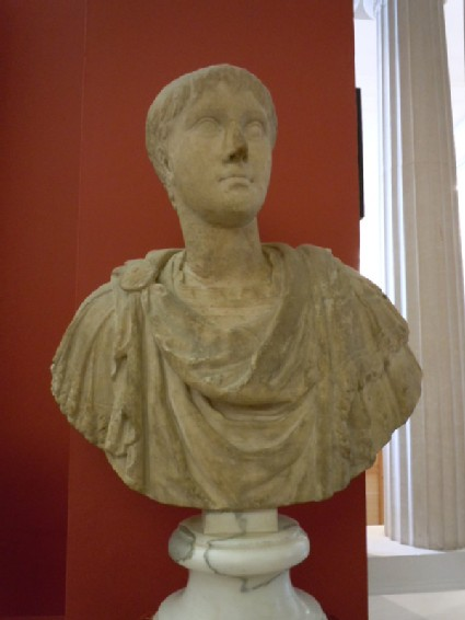 Statue head of a youth