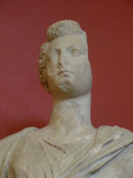 Roman female head of statue
