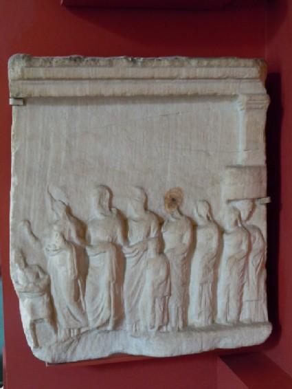 Attic votive relief depicting a procession