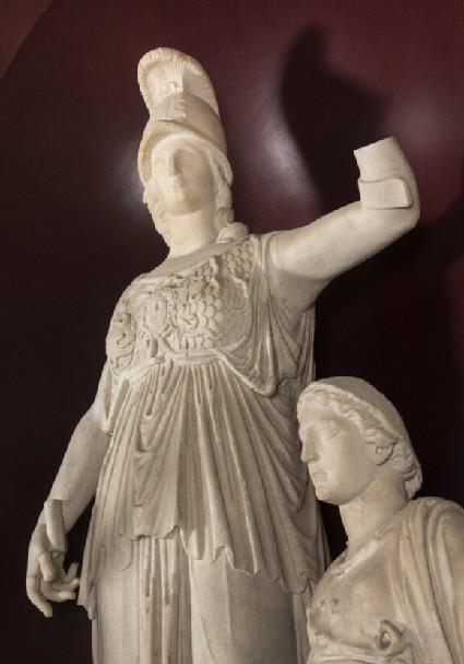 Statue head of Athena