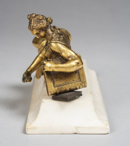 Reclining female figure, probably Faith