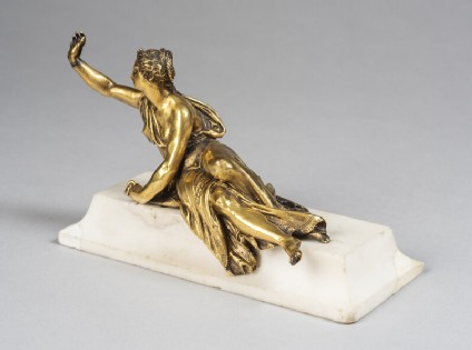 Reclining female figure, probably Hope