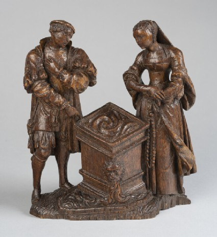 Figure of a man and a woman