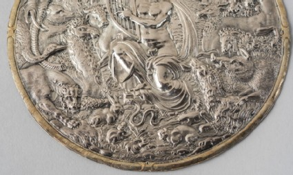Circular relief with Orpheus and animals