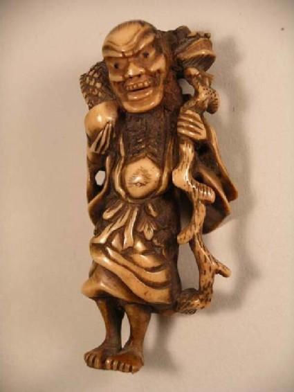 Netsuke in the form of the sennin Chinnan