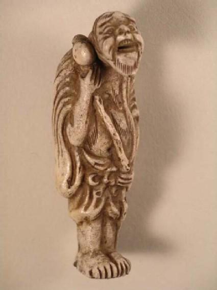 Netsuke in the form of a figure of Chōkarō Sennin (Ch. Zhang Guolao)