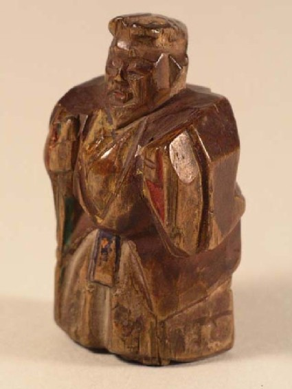 Netsuke in the form of a standing actor playing the part of Jō from the Nō play, Takasago