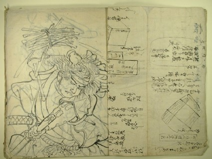 Book of shita-e (under-drawings for woodblock prints) for prints by Utagawa Kuniyoshi