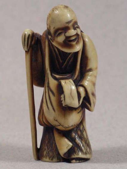 Netsuke in the form of Ono no Komachi in old age