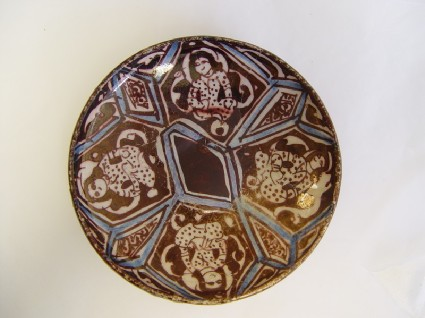 Saucer with seated figures