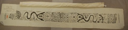 Rubbing of tomb brick with tortoise, phoenix, and dragon