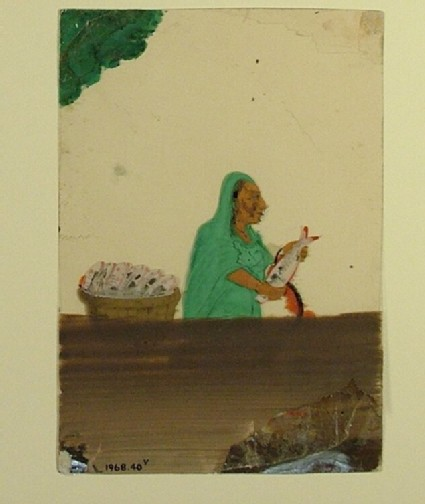 Portrait of a fishmonger