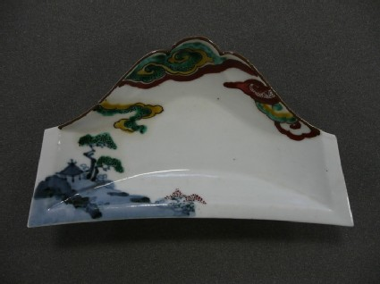 Moulded dish in the form of Mount Fuji