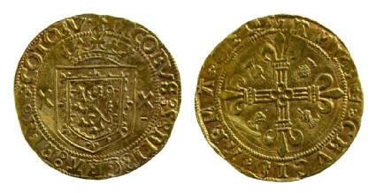 Scottish gold coin of James V