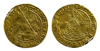 English gold coin