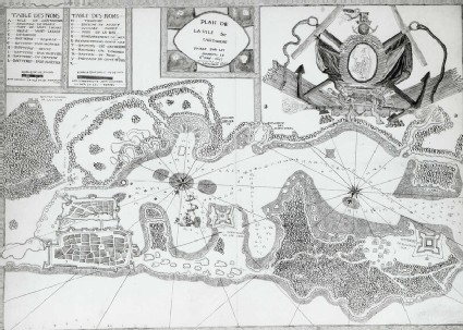 Plan of Cartagena and the surrounding District during the Siege of 1697