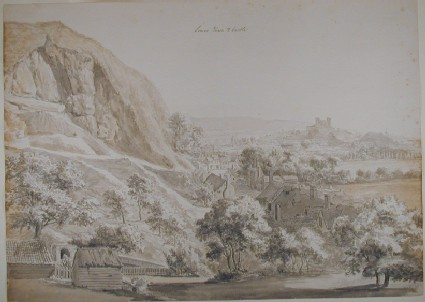 Recto: Lewes Town and Castle