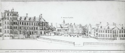View of the Binnenhof at The Hague
