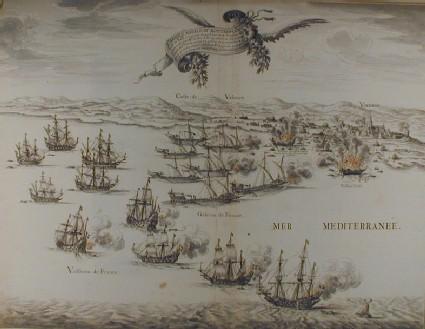 Bird's eye View of a naval Battle