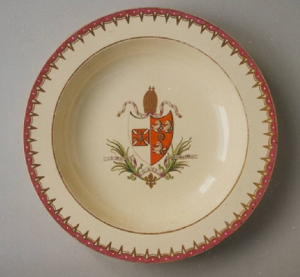 Armorial soup plate