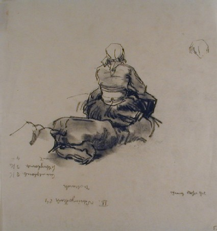 Seated Woman seen from the Rear