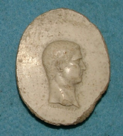 Profile medallion head of the Emperor Claudius
