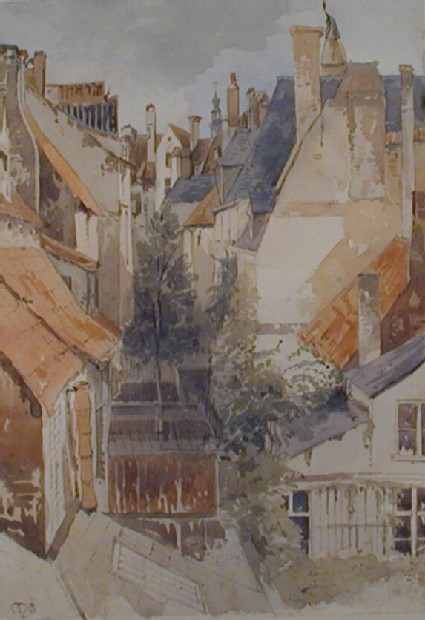 Backs of some houses in Antwerp