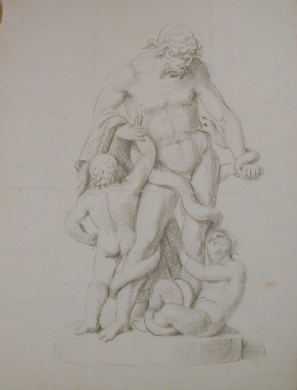 Recto: studies of a Laocoon group