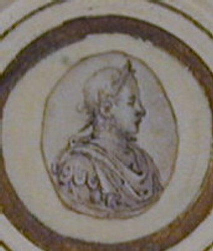 Design for a puncheon: a roundel enclosing the head of Charles IX, laureate