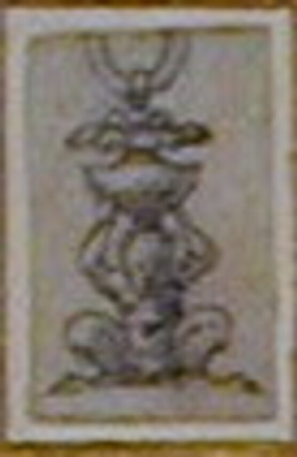 Design for a finial in the form of a crouching satyr