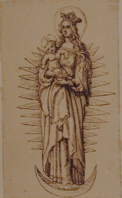 Madonna and Child on a crescent Moon