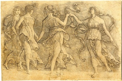 Four women dancing