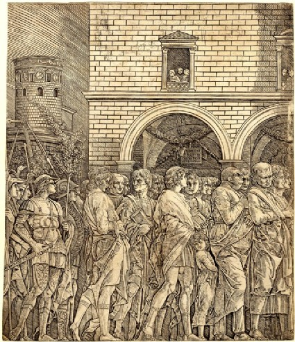 Triumph of Caesar with Soldiers Carrying Trophies