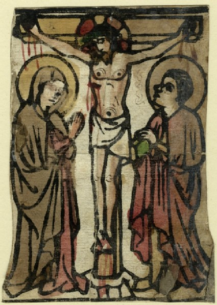 Christ on the Cross, between the blessed Virgin Mary and Saint John