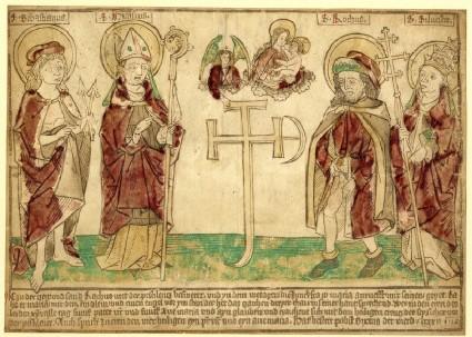 Saints Sebastian, Nicasius, Roch and Silvester