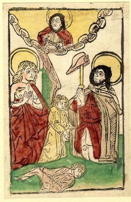 Saints Sebastian and Roch, with God the Father, an Angel and a dead boy