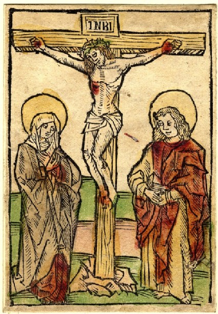 Christ on the Cross, between the Virgin Mary and Saint John