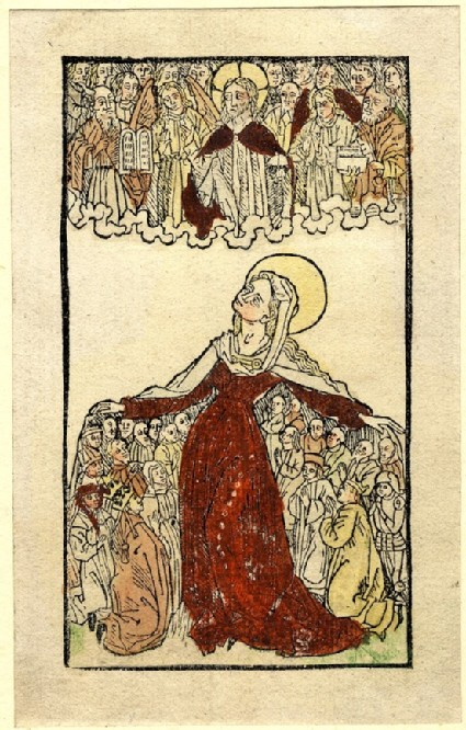 The blessed Virgin protecting Clergy and Laity