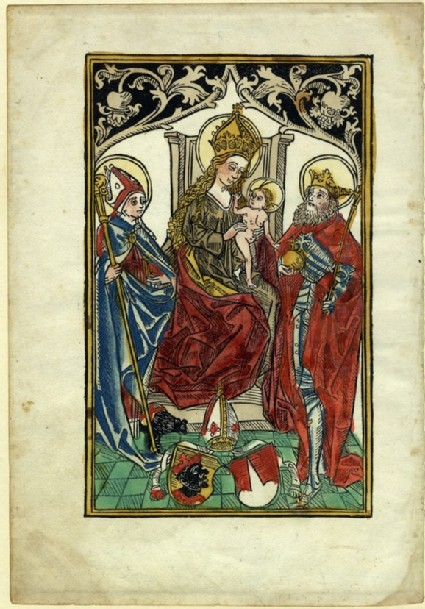 The Virgin with patrons and the coat of arms of Freising