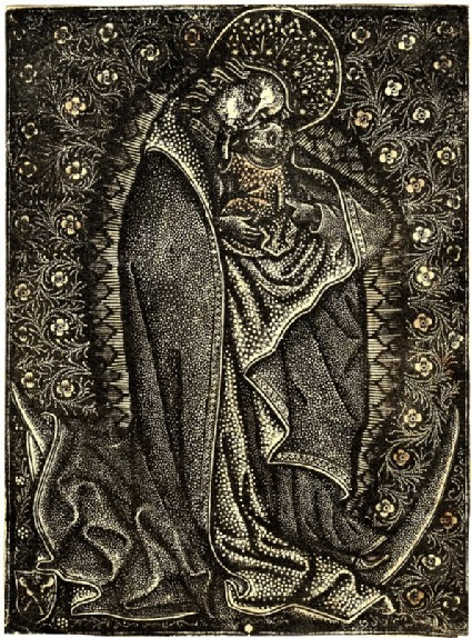 Virgin with the child in a half-moon crescent