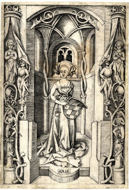 The woman with the coat of arms of Bavaria
