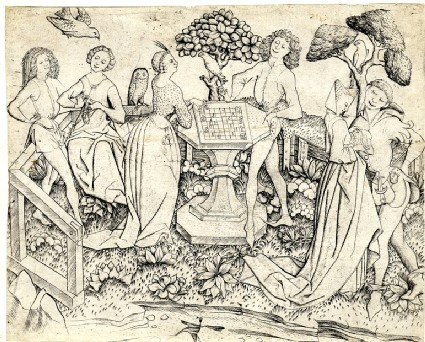 The Garden of Love with chess-players