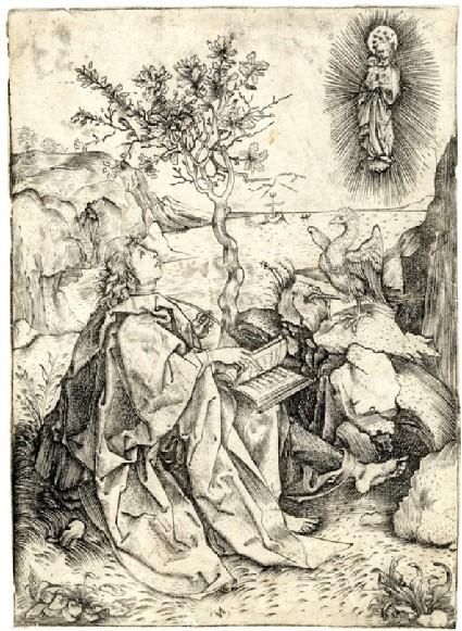 Saint John on Patmos, copy