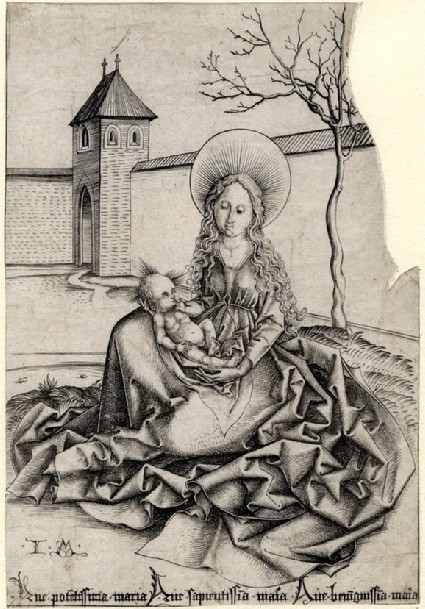 The Madonna in a court