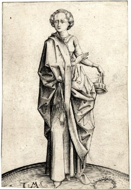 The fourth foolish Virgin, copy in reverse