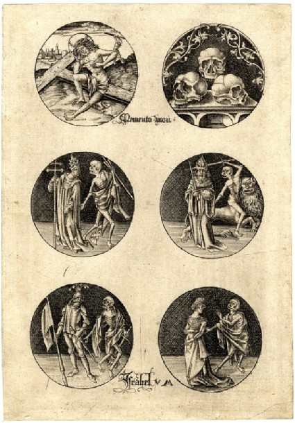The Man of Sorrows, skulls and scenes of the Dance of Death